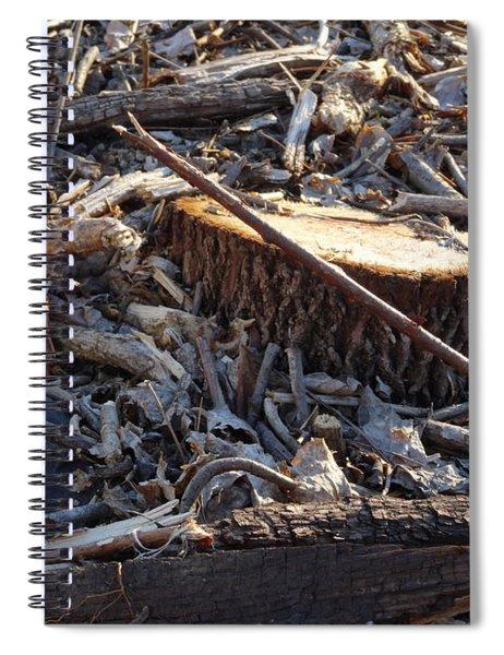 Canal Stumps-041 Spiral Notebook