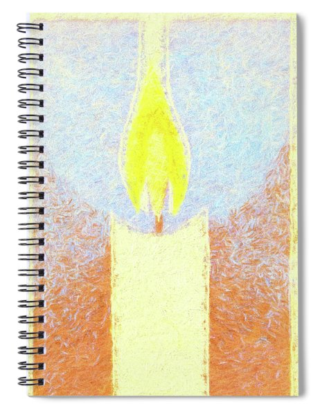 Candle Flame Pastel Spiral Notebook
