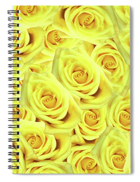 Candlelight Roses Spiral Notebook