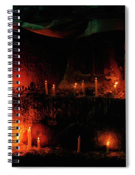 Candlelight Vigil In  Mcleod Ganj Spiral Notebook