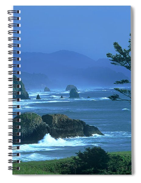 Cannon Beach And Haystack Rock Ecola State Beach Oregon Spiral Notebook