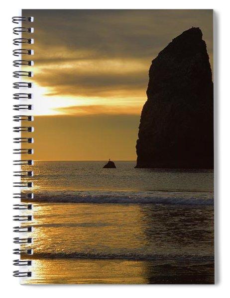 Cannon Beach November Evening Spiral Notebook