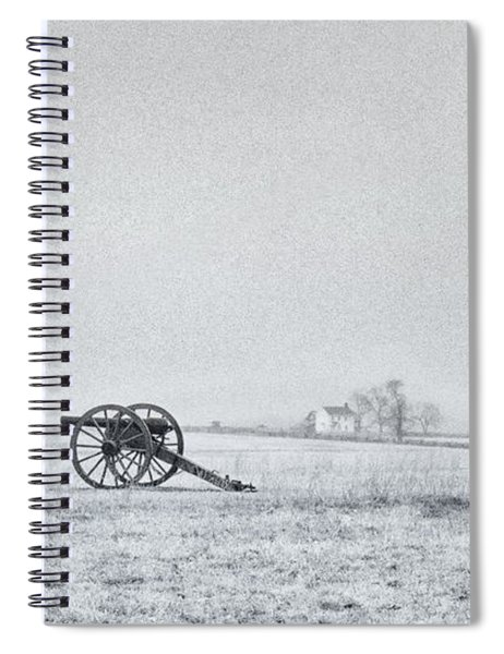 Cannon Out In The Field Spiral Notebook