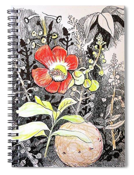 Cannonball Flower Botanical Spiral Notebook