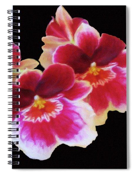 Canvas Violets Spiral Notebook
