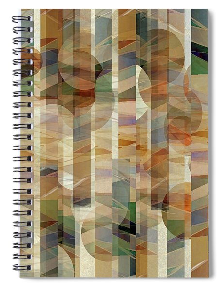 Canyon Circles And Stripes Spiral Notebook