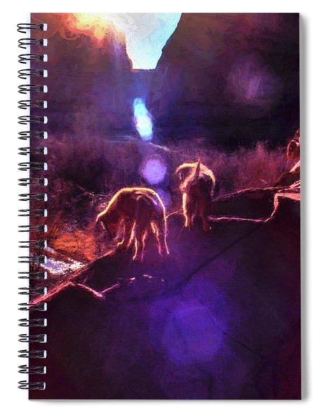 Canyon Pups Meet The Dawn Spiral Notebook