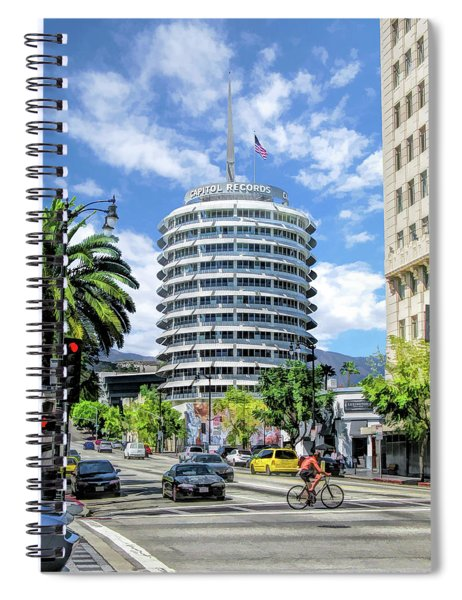 Capitol Records In Los Angeles Spiral Notebook