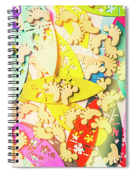 Card Boarding Spiral Notebook