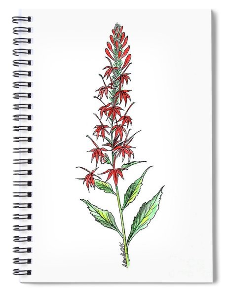 Cardinal Flower Spiral Notebook