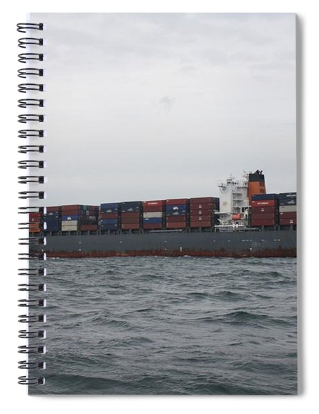 Cargo Ship In International Waters Spiral Notebook
