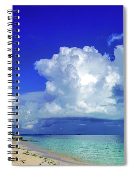 Caribbean Clouds Spiral Notebook