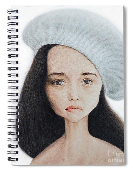 Caricature Of Actress Angela Cartwright Spiral Notebook