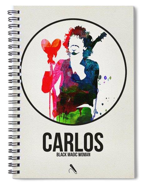 Carlos Santana II Spiral Notebook