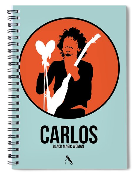 Carlos Santana Spiral Notebook