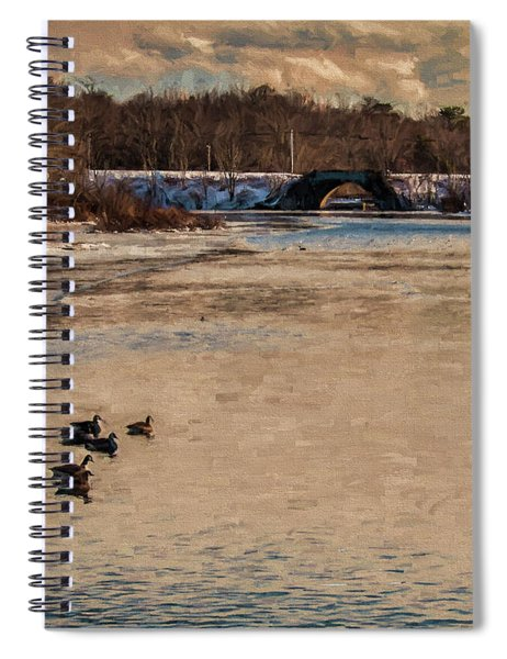 Carmens River In Winter Spiral Notebook