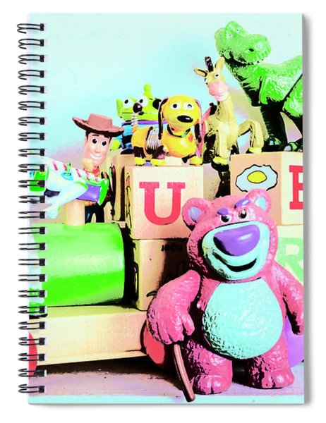 Carriage Of Cartoon Characters Spiral Notebook