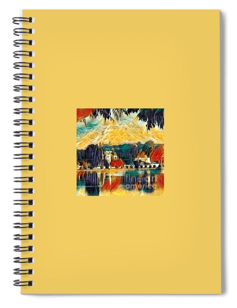 Spiral Notebook featuring the digital art Carthage by A zakaria Mami