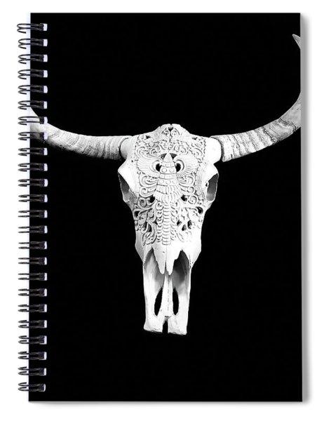 Carved Animal Skull  Spiral Notebook
