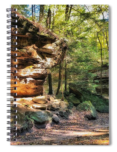 Spiral Notebook featuring the photograph Carved Passage by Andrea Platt