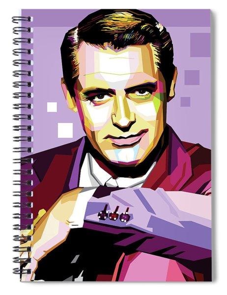 Cary Grant Pop Art Spiral Notebook