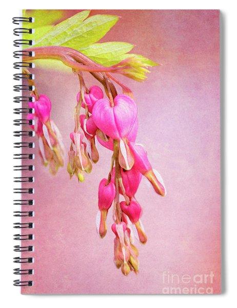 Cascading Bleeding Hearts Spiral Notebook