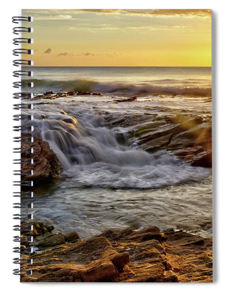 Cascading Sunset At Crystal Cove Spiral Notebook