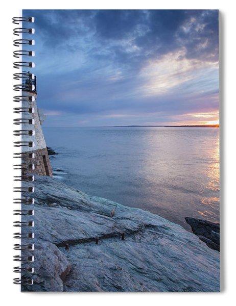 Castle Hill Light Sunset Spiral Notebook