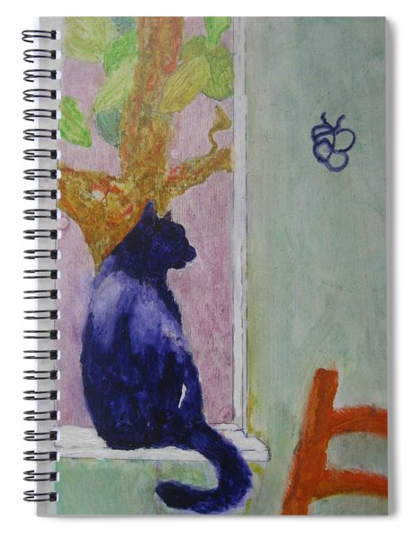 cat named Seamus Spiral Notebook by AJ Brown
