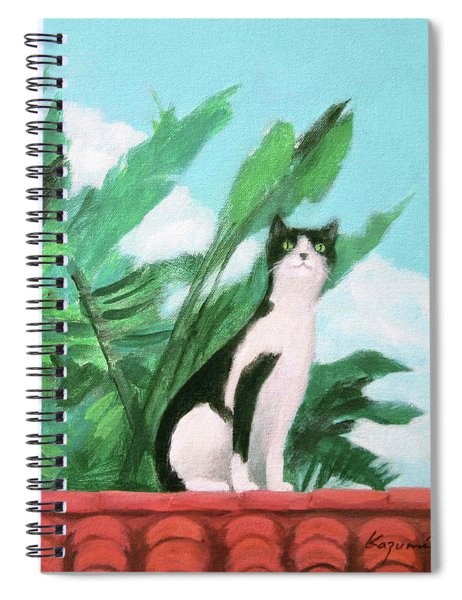 Cat On The Roof Spiral Notebook