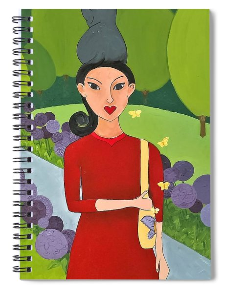 Cat Tail Pony Tail Spiral Notebook