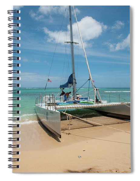Catamaran On Waikiki Spiral Notebook