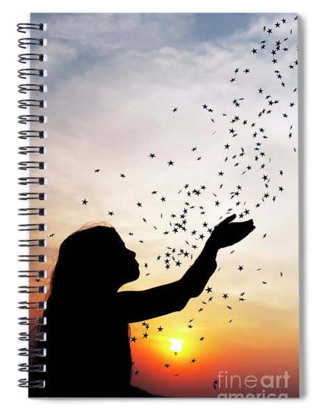 Spiral Notebook featuring the photograph Catching Stars by Tim Gainey