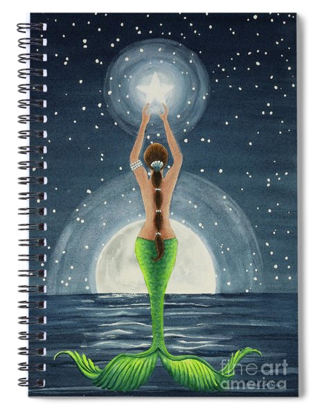 Catching Stars Watercolor Spiral Notebook