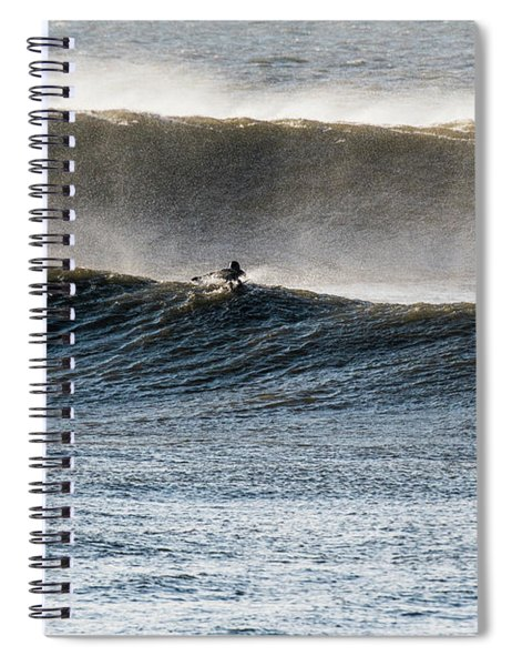 Catching The Wave Spiral Notebook