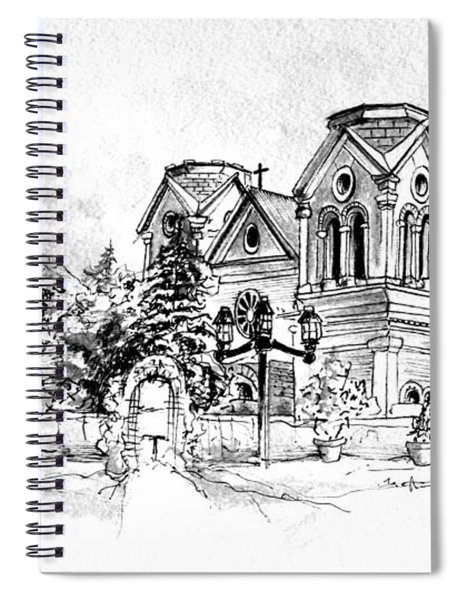 Cathedral Basilica Of St. Francis Of Assisi - Santa Fe, New Mexico Spiral Notebook