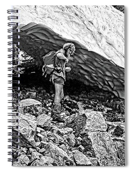 Cave Man Bw Spiral Notebook