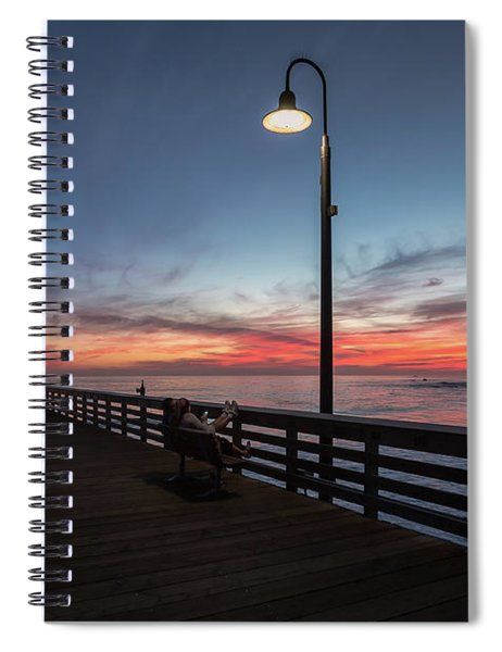 Cayucos Pier Sunset Spiral Notebook