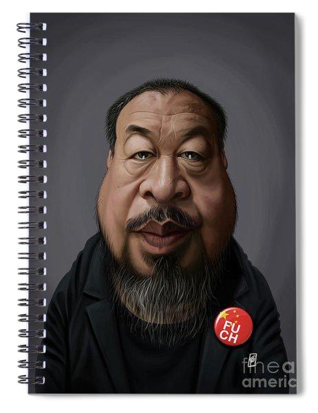 Celebrity Sunday - Ai Weiwei Spiral Notebook