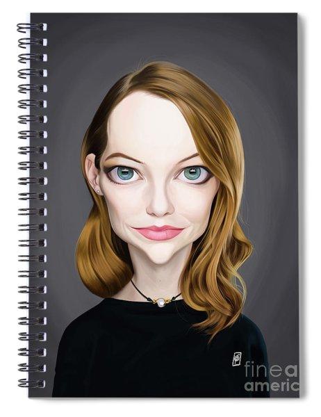 Celebrity Sunday - Emma Stone Spiral Notebook