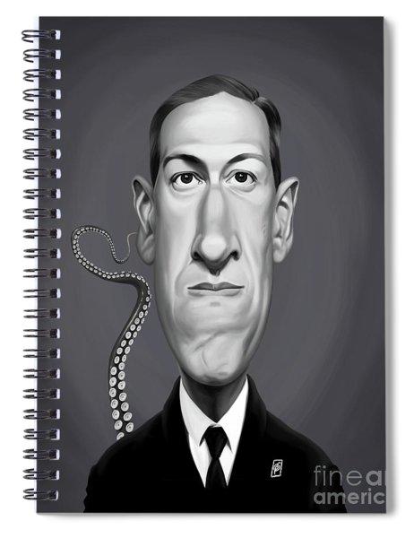 Celebrity Sunday - H.p Lovecraft Spiral Notebook