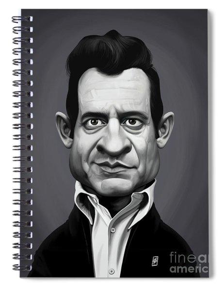 Celebrity Sunday - Johnny Cash Spiral Notebook