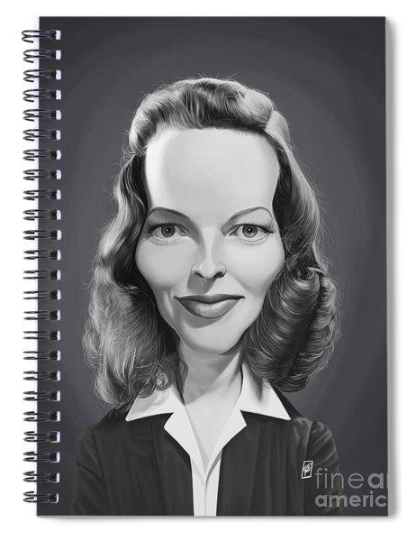 Celebrity Sunday - Katharine Hepburn Spiral Notebook