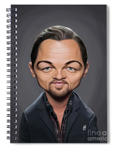 Celebrity Sunday - Leonardo Dicaprio Spiral Notebook