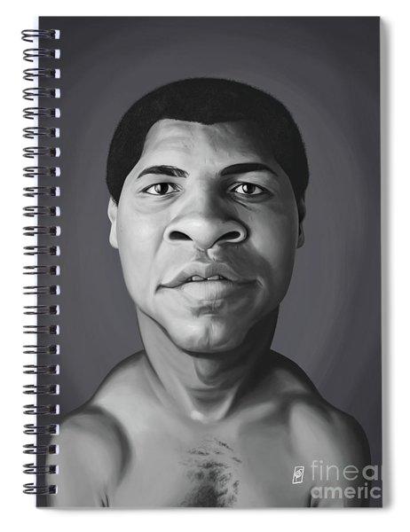 Celebrity Sunday - Muhammad Ali Spiral Notebook