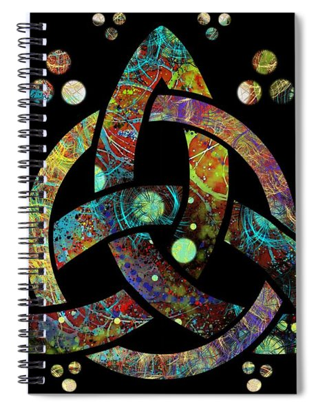 Celtic Triquetra Or Trinity Knot Symbol 4 Spiral Notebook