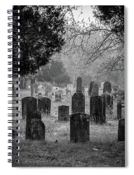 Cemetery In The Pines Bw Spiral Notebook
