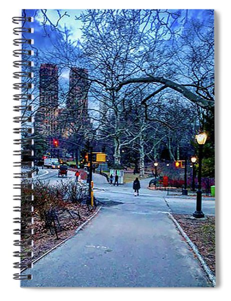 Central Park At Night, New York, New York Spiral Notebook