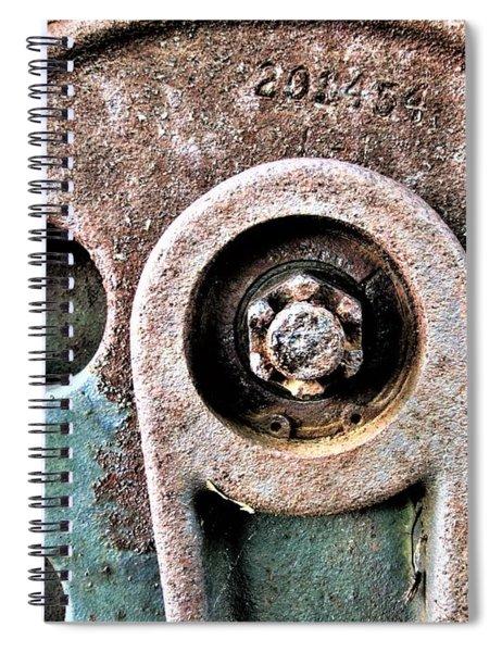 Chain Gear Spiral Notebook