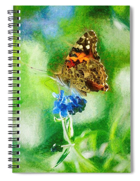 Chalky Painted Lady Butterfly Spiral Notebook